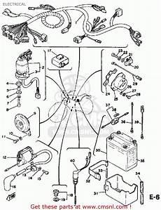 1975 yamaha dt 125 wire schematic yamaha dt125 1978 usa electrical schematic partsfiche