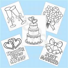 5 printable wedding favor coloring pages by