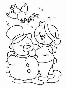 Ausmalbilder Winter Schneemann Free Printable Winter Coloring Pages For