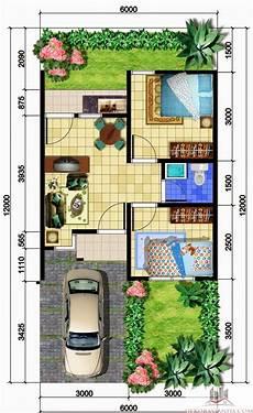 Denah Rumah Minimalis 1 Lantai Ukuran 6x12 Denah Rumah