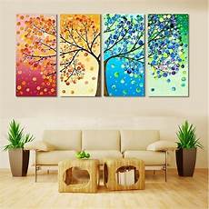 wall home decor aliexpress buy unframed colourful leaf trees canvas