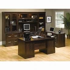sauder home office furniture sauder 174 office port executive desk dark alder item