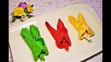 Servietten Falten Ostern - easter napkin folding bunny