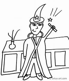 Zauberer Malvorlagen Pdf Zauberer Ausmalbild 187 Gratis Ausdrucken Ausmalen 187 Artus