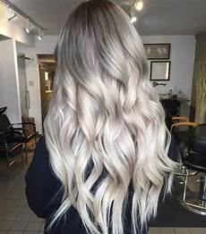 picture of ashy grey hair with balayage