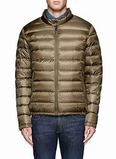 scotch soda quilted jacket in green for lyst