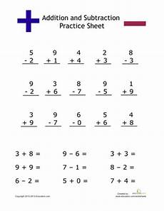 simple addition and subtraction addition subtraction