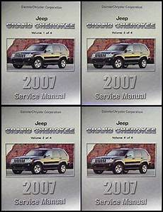 free car manuals to download 2007 jeep grand cherokee parking system 2007 jeep grand cherokee repair shop manual original 4 vol set