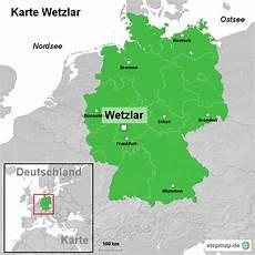 karte wetzlar ortslagekarte landkarte f 252 r deutschland