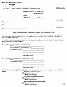 kentucky qdro form fill online printable fillable blank pdffiller
