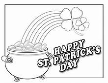 Happy St Patricks Day Coloring Page & Book