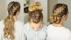 3 easy braided hairstyles sue youtube