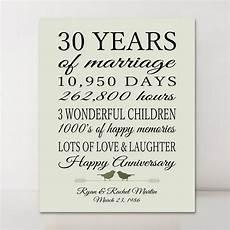 30 Year Wedding Gift