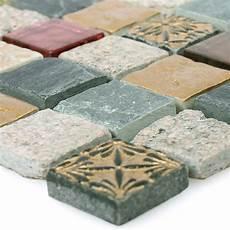 mosaikfliesen glas naturstein mix sulluna gold grau