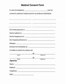 free printable medical consent form free medical consent form the medical consent