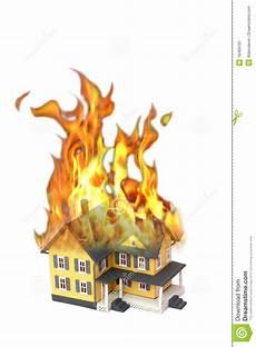 Malvorlage Brennendes Haus Brennendes Haus Getrennt Auf Wei 223 Stockbild Bild