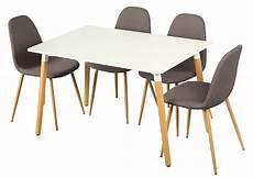 table 4 chaises otis blanc chene