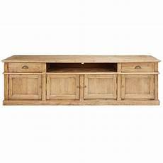 meuble tv 4 portes 2 tiroirs en pin recycl 233 vieilli