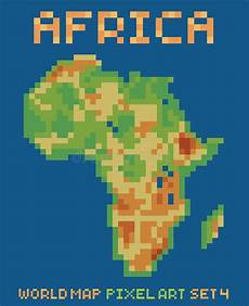 pixel style of continent australia physical vector pixel art style illustration of africa physical stock vector illustration of geometric byte