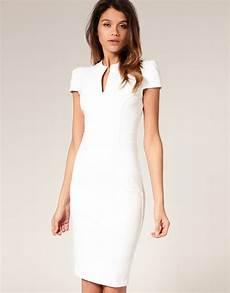 asos collection asos ponti pencil dress with zip detail in