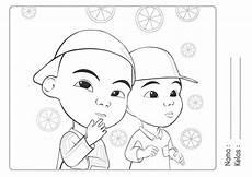 Kumpulan Gambar Mewarnai Upin Dan Ipin Untuk Anak