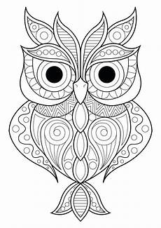 Gratis Malvorlagen Eulen Owl Simple Patterns 2 Owls Coloring Pages