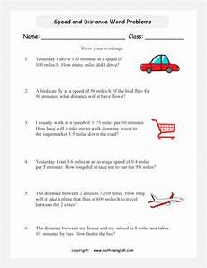 speed word problems printable grade 5 math worksheet