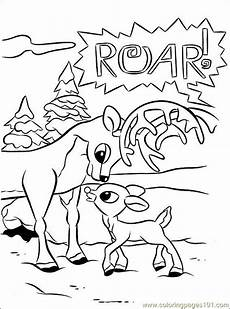 rudolph 006 coloring page free rudolph the nosed