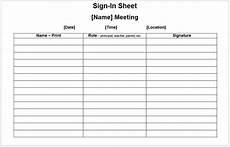 11 free sle meeting attendance sheet templates printable sles