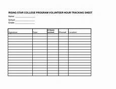 volunteer hours log sheet template community service