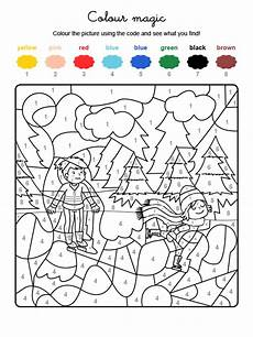 colour by numbers una pisa de hielo en la monta 241 a