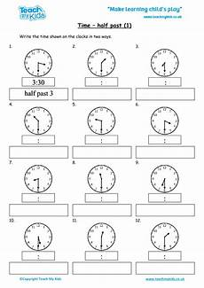 half past time worksheets for grade 1 3568 time half past 1 tmk education