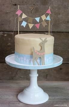woodland diy cake bunting topper perfect party ideas