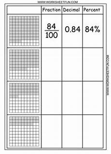 fractions and decimals worksheets for grade 6 4265 free blank decimal grids for tenths hundreths thousandths on this site math