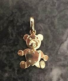 orso pomellato pendente ciondolo orsetto pomellato in oro giallo