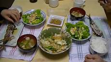とある日の食事風景 japanese dinner at home youtube