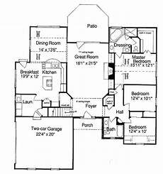 e plans ranch house plans ranch style house plan 3 beds 2 baths 1964 sq ft plan