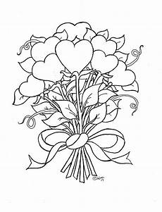 coloring pages for by mr adron flower hearts kid s