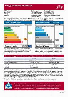 Exle Of An Energy Performance Certificate Epc