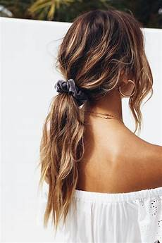 low ponytail cute hairstyles for school and hair scrunchies hair goals