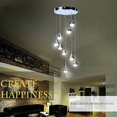 Led 9 Les Lustre Suspension Moderne Simple Acrylique