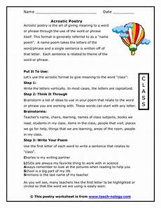 writing poetry worksheets middle school 25325 name acrostic poem worksheet standards met writing poetry acrostic acrostic poetry poetry