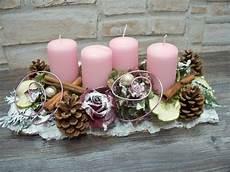 adventsgesteck rosa wei 223 natur shabby landhaus die