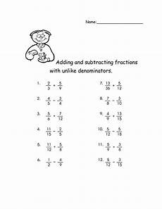 fraction subtraction unlike denominators worksheets 3904 adding and subtracting fractions with unlike denominators activities fractions