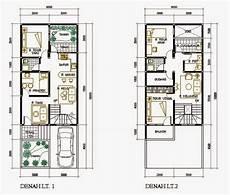 Denah Rumah Minimalis 7 X 20 2017