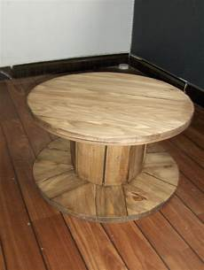 table basse bobine bois table basse bobine meubles par sycomore