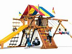 rainbow swing sets wooden swing sets rainbow midwest