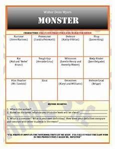 monster novel study walter dean myers by
