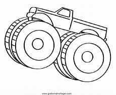 Truck Malvorlagen Gratis Monstertruck 4 Gratis Malvorlage In Lastwagen
