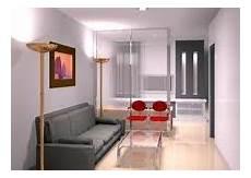 Ruang Santai Dengan Lantai Warna Coklat Muda Rumah Minimalis
